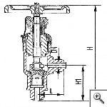 Клапаны дроссельные штуцерные угловые сальниковые