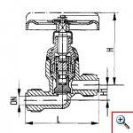 Клапан запорный штуцерный проходной