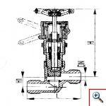 Клапан быстрозапорный штуцерный проходной с тросиковым приводом