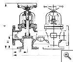 Коробка двухклапанная запорная фланцевая сальниковая