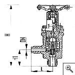 Клапаны невозвратно-управляемые штуцерные угловые