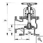 Клапаны невозвратно-запорные фланцевые угловые сальниковые