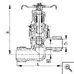 Клапаны невозвратно-запорные штуцерные проходные сальниковые