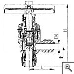 Клапаны невозвратно-запорные штуцерные угловые