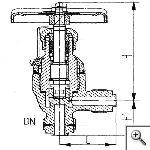 Клапаны невозвратно-запорные штуцерные угловые сальниковые