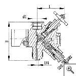 Клапан для манометра штуцерный сальниковый