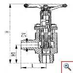 Клапан запорный штуцерный угловой для высоких давлений