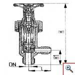 Клапан запорный штуцерный проходной бессальниковый с герметизацией