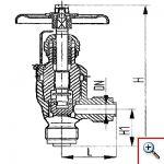 Клапан запорный штуцерный угловой сальниковый