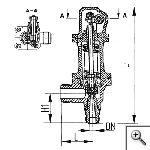 Клапаны предохранительные штуцерные угловые с принудительным подрывом