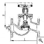 Клапан запорный проходной фланцевый